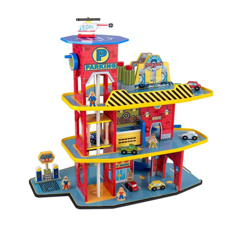 Set garage 3 piani deluxe kidkraft mukako for Piani di garage suocera