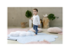 Immagine di Grande Tappeto in cotone + Cuscino Dream Blue - Lorena Canals