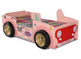 Lettino a Forma di Automobile Jeep Pink