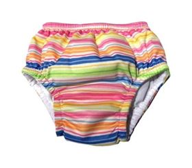 Costume contenitivo slip girl Mix'n Match Ruffle Wavy Stripe - iPlay