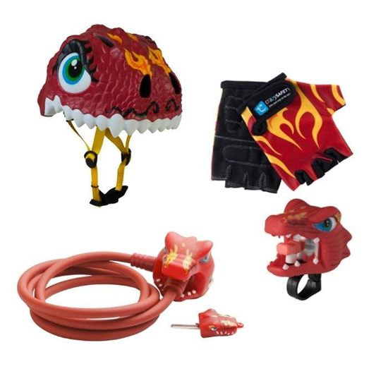 Set Caschetto e accessori Sicurezza in bici Chinese Dragon - Crazy Safety
