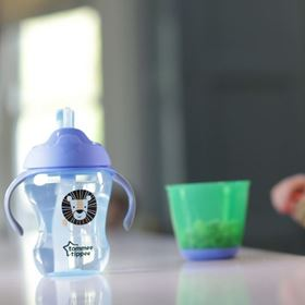 Tazza Easy Drink con Cannuccia - Tommee Tippee azzurro
