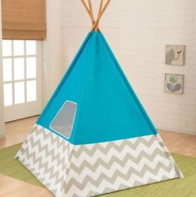 Tenda Teepee dei nativi americani Deluxe Turchese - KidKraft in camera