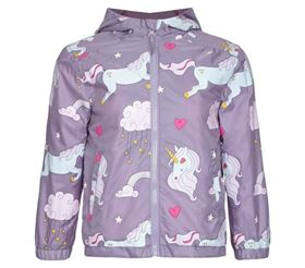 Giacca Impermeabile e Ripiegabile per Bambini Color Changing Unicorn - Holly & Beau asciutto