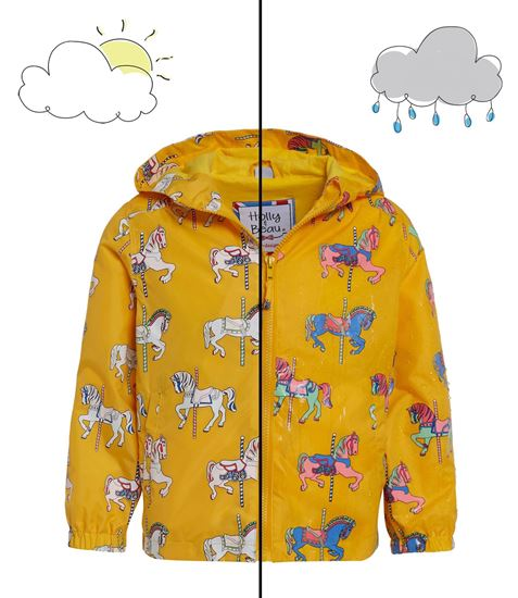 Giacca Impermeabile per Bambini Color Changing Yellow Horse - Holly & Beau