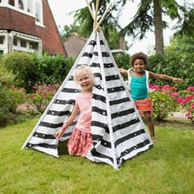 Tenda Indiana Teepee Stripes & Dots - BS Toys esterno
