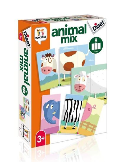 Puzzle Animal Mix 3 Pezzi - Diset