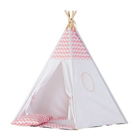 Tenda Teepee Chevron Collection - Wigiwama rosa