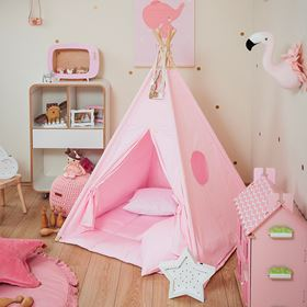 Tenda Teepee Plain Collection - Wigiwama ambientata rosa