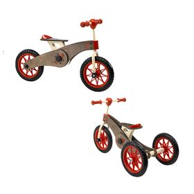 Triciclo-Bicicletta in legno 2-in-1 Magic Wheels - Italtrike, Immagine 1